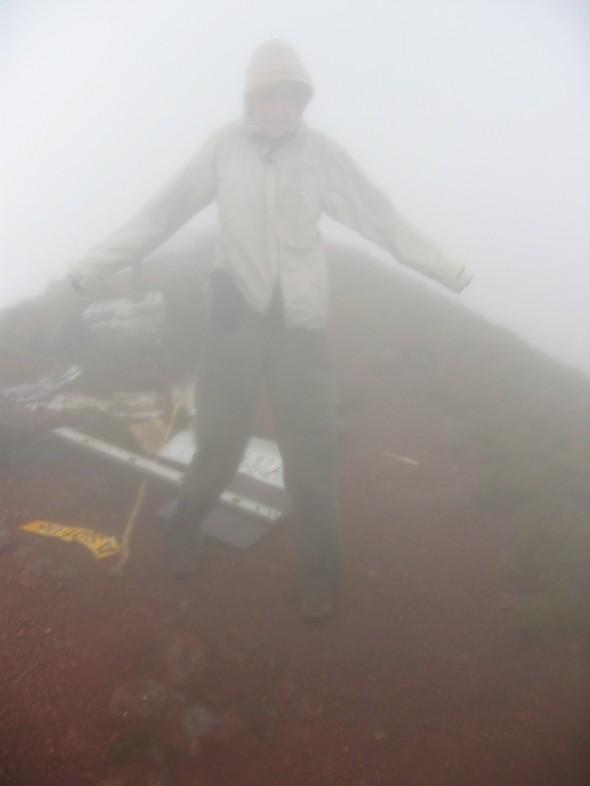 Auf dem Gipfel des Mount Cameroun