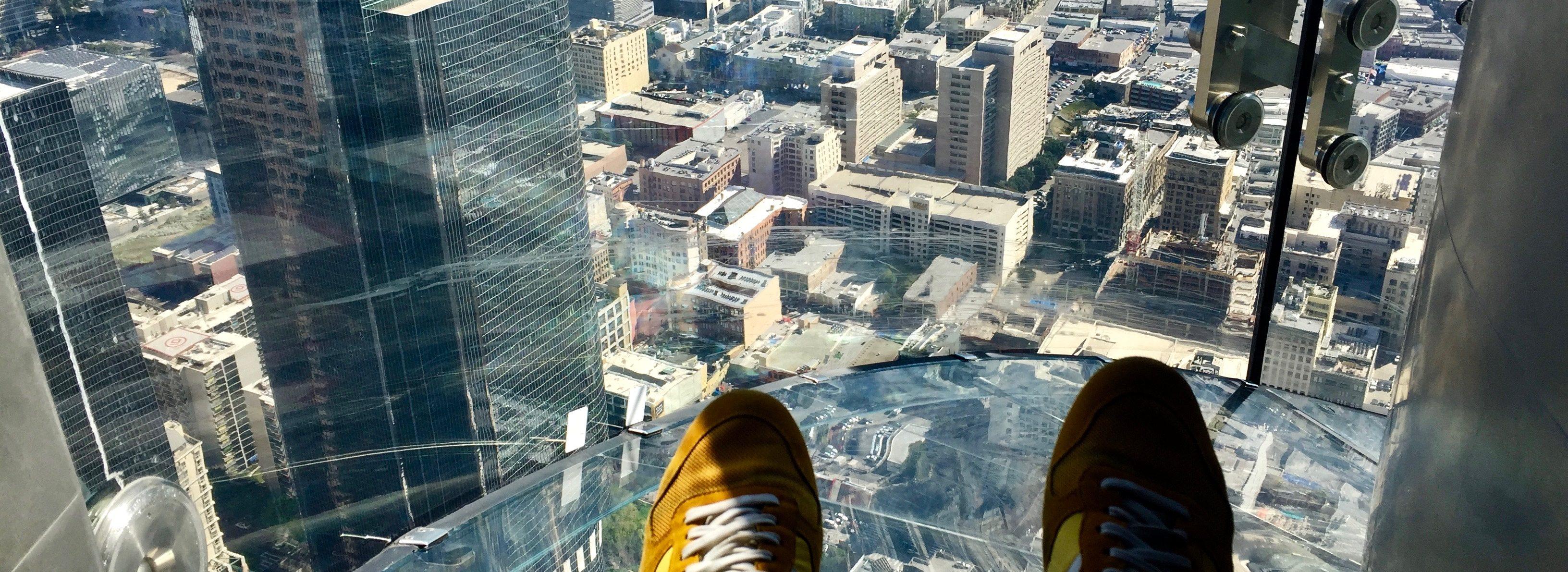 Kerstin Zilm im Skyslide Los Angeles