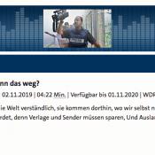 Screenshot WDR-Beitrag Auslandsberichterstattung WDR 5