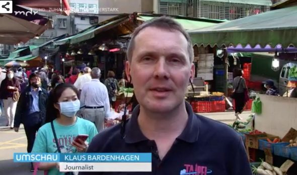 Klaus Bardenhagen berichtet aus Taipei Foto: Screenshot mdr